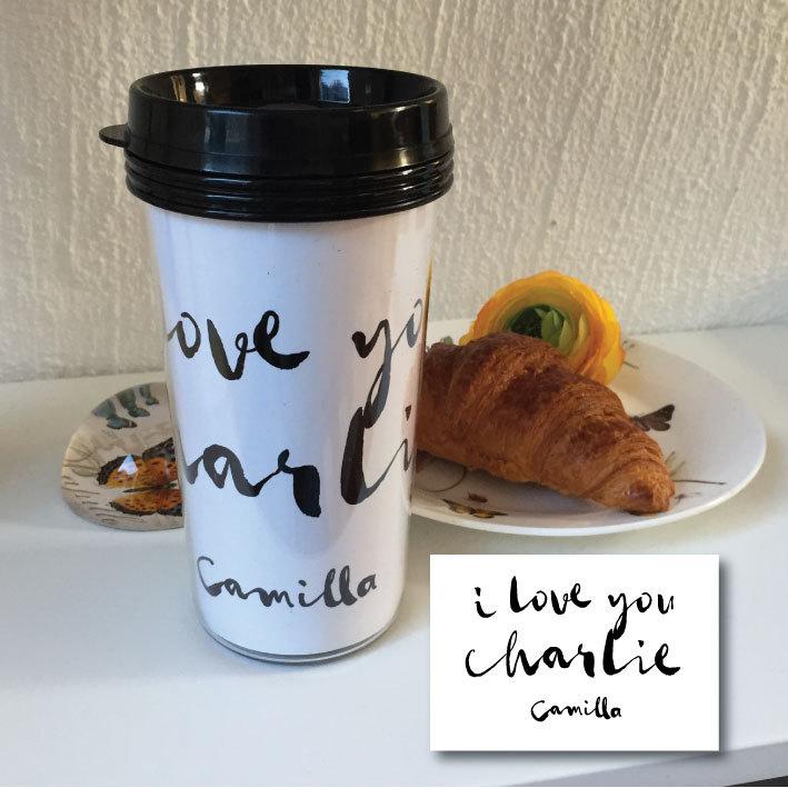 TAKE AWAY CUP - I LOVE YOU