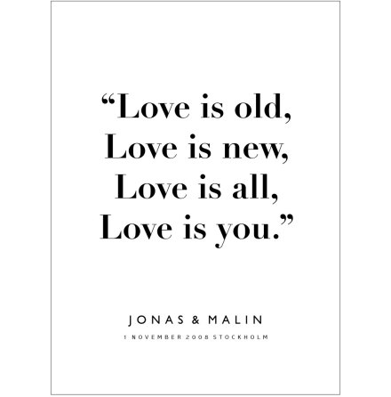 LOVE IS OLD