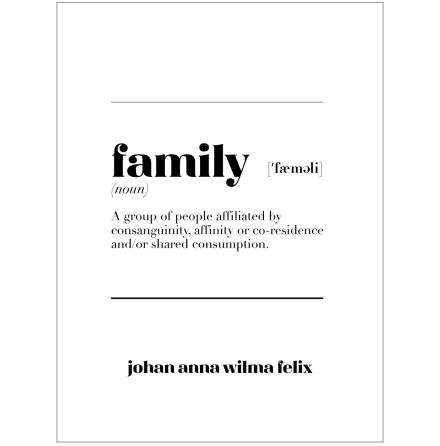 FAMILY IS familjetavla familjeposter namntavla namnposter