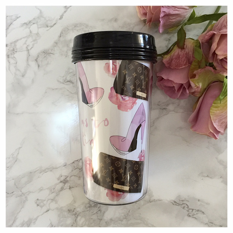 TAKE AWAY CUP - CLUTCH PINK FLOWERS