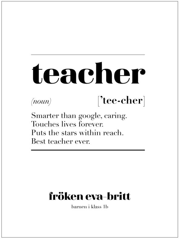 TEACHER IS