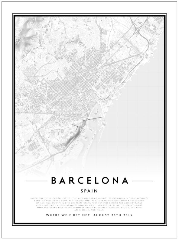 CITY MAP - BARCELONA
