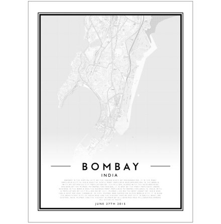 CITY MAP - BOMBAY