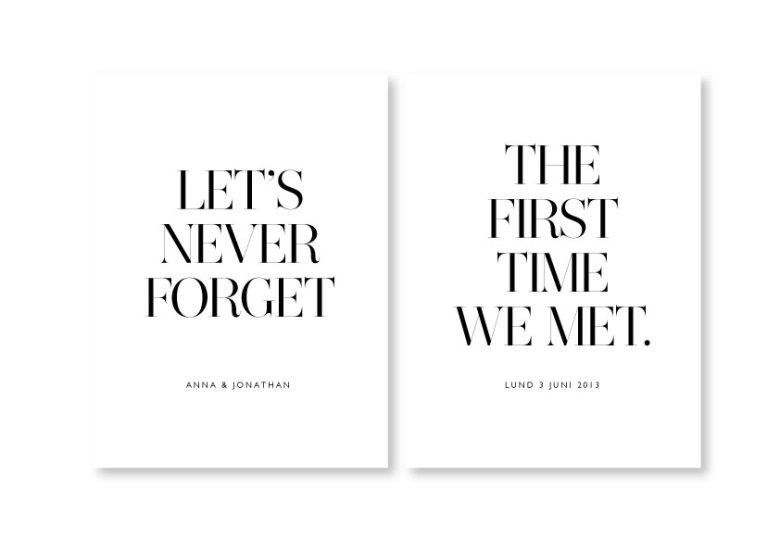 PARPOSTERS - LET'S NEVER FORGET 2 ST POSTERS
