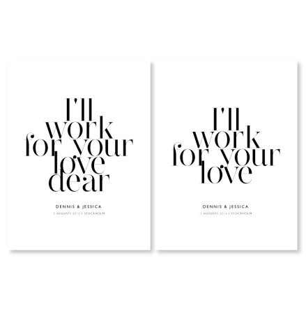 PARPOSTERS - I'LL WORK FOR YOUR LOVE 2 st posters