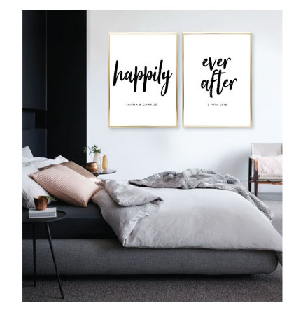 PARPOSTERS - HAPPILY EVER AFTER BRÖLLOPSTAVLA 2 st posters