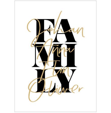 VÅR FAMILJ POSTER