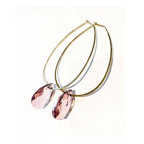 Örhängen med Swarowski® kristaller Rosaleen Antique Pink