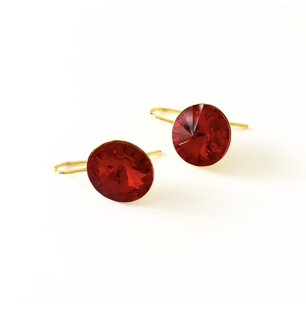 Örhängen med Swarowski® kristaller Ruby Red
