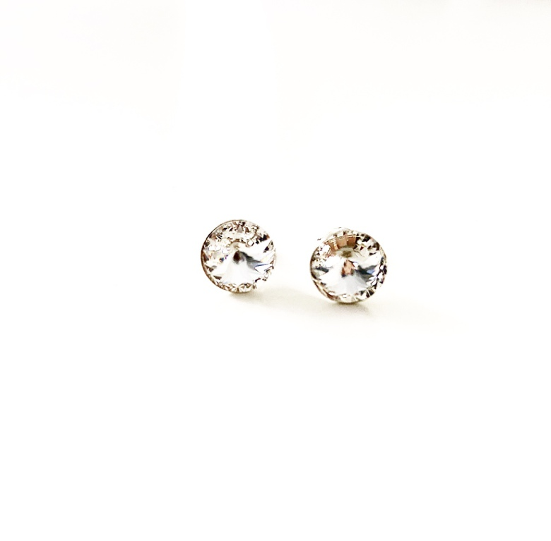 Örhängen stud sterling silver med Swarowski® kristaller Crystal Clear