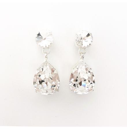 Swarovski® örhängen drops Crystal Clear