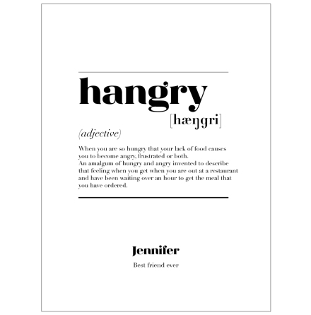 HANGRY IS CITATPOSTER