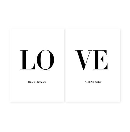 SPLIT LOVE - PARPOSTERS 2 st posters
