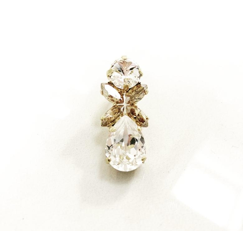 Örhängen med Swarowski® kristaller Flower Crystal