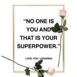 NO ONE IS YOU POSTER AFFISCH