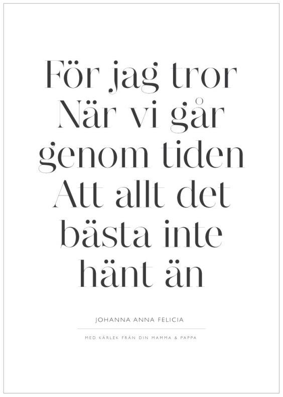 FÖR JAG TROR NÄR VI GÅR