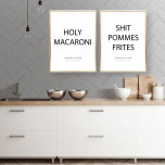 PARPOSTERS - HOLY MACARONI SHIT POMMES FRITES 2 st posters