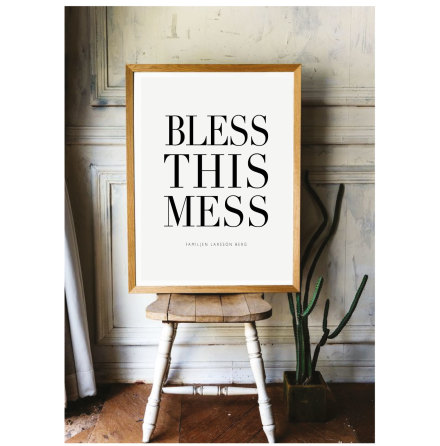 BLESS THIS MESS POSTER AFFISCH