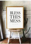 BLESS THIS MESS POSTER AFFISCH