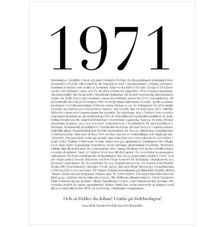 VAD HÄNDE 1971