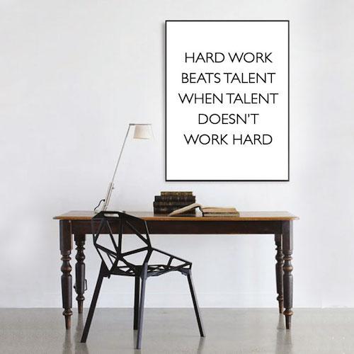 hard work poster affisch motivationsposter motivationstavla petite charlie 849065799f8fb