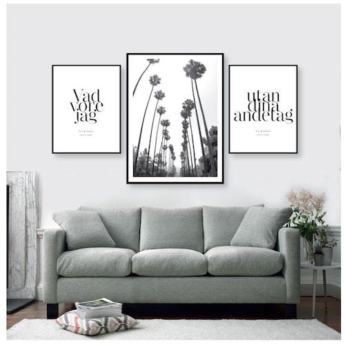 poster med palmer, palmposter, palmaffisch, palmavtal, petite charlie, fotokonst